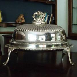 Legumiera in metallo argentato metà '800