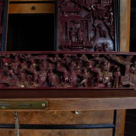 Antica scultura – pannello decorativo – CIna XIX Secolo