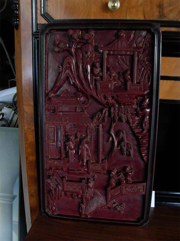 pannelli decorativi in legno : Pannelli decorativi in legno scolpito e laccato. Cina, XIX secolo - La ...
