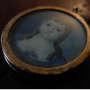 Miniatura dipinta su avorio raffigurante giovane donna