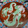"""Piatto smaltato - """"cloisonné"""" - Cina XVIII secolo"""
