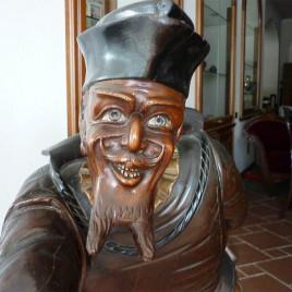 Scultura in legno Gobbo – Fool – Shakespeare – 1800