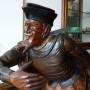 """Scultura lignea raffigurante il """"Gobbo"""", ispirata al personaggio del """"Fool Shakespeariano"""" 1800 Inghilterra"""