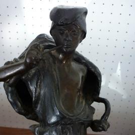 """Scultura in bronzo – """"Venditore di pesce"""" – Achille D'Orsi"""