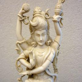 Statua in avorio raffigurante Śiva (Shiva) Naṭarāja