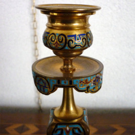Candeliere francese in bronzo Seconda meta XIX secolo