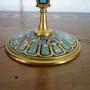 La Fenice Antiquariato - Verbania - Candeliere francese, in bronzo dorato e smalti champlevé