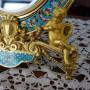 La Fenice Antiquariato - Verbania - Specchiera francese in bronzo dorato e smalti champlevé
